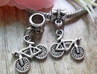 Wholesale 65pcs Tibetan Silver Bicycle Amulet Pendant Fit European Bead Bracelet x15mm