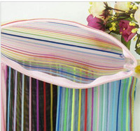 Wholesale Colorful lines Cosmetic Bag wallet bag is convenient and practical and easy to carry