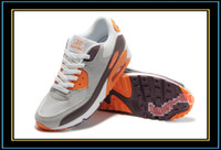 Wholesale Men Max Running Shoes Gray Orange Sports Shoe Athetics Trainers Sneakers Basketball Footwear
