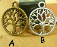 Wholesale DIY alloy accessories circle tree of life double buttons mm x mm bracelet connector