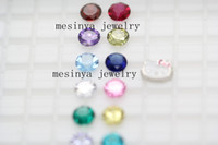 Wholesale bling shiny floating charm mm round birthstone colors available no glass locket this order