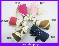 Wholesale Girls Hats Dot Bow Straw Hats Sun Hats Beach Hats Large Brimmed Hat