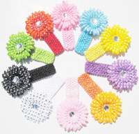 Wholesale Multicolor daisy Polka Dot babies headbands children hair bands in colors mixed