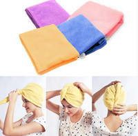 Wholesale New Magic Microfiber Twist Hair Dryer Drying Towel Turban Cap Hat Head Wrap
