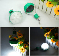 Wholesale outdoor solar hanging light Camping light Waterproof lamp woth led bulb