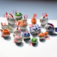 Wholesale Ceramic Figurines porcelain handicraft pottery floating fish tortoise goldfish