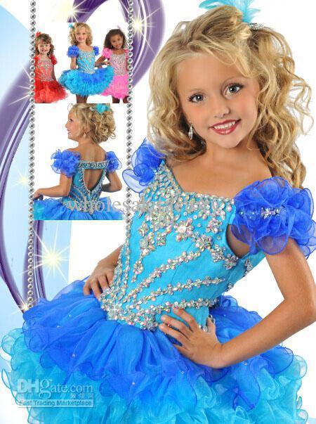 2013 Cute Little Girls Cupcake Dresses Short Pageant Flower ...