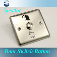 Stainless steel push button phone - 5pcs Door Exit Push Release Button Switch Works with most electronics access control keypads door phones with access control keypads