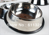 Wholesale Pet Supplies Stainless Steel Bowl Travel Dog Cat Food Water Bowls Feeding Dish NON Skid New quot
