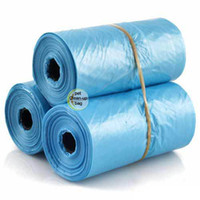 Wholesale 5 rolls Pet Dog Garbage Clean up Bag Pick Up Waste Poop Bag Refills Home Supply random color