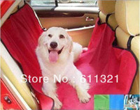 Wholesale Cradle Dog Car Rear Back Seat Cover Pet Mat Blanket Hammock Waterproof Cushion Protector x53inch V3435
