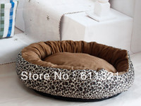 Wholesale Medium Leopard Luxury Dog Cat Pet Bed Houses Sofa Kennels Sleep Warm Product