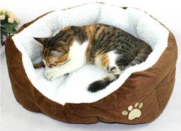 Wholesale Cashmere like soft warm Pet Cat Bed Pet Nest luxury Dog nest Luxury warm round