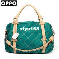 Wholesale Brand OPPO Fashion Women PU Leather Handbags Korean WEAVING GRID Style High Quality Shoulder Bag co