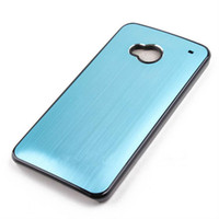 aluminium wire drawing - Luxury Brushed Wire Drawing Aluminium Chrome Hard Plastic Case Skin Cover Shield HTC One M7 Colorful
