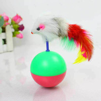 Wholesale Pet Cat toys Tumbler toy Training Funny Mouse Mice Play Toy Tumbler Ball Gift Pet Supplies T9203