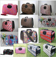 airline pet carriers - Multi Colors Fashion Pet Dog Cat Carrier Travel Tote Bag Airline Size S M L T9183