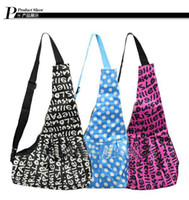 Wholesale Black and Purplr Strip Sling Pet Dog Cat Tote Single Shoulder Bag Carriers colors T9177