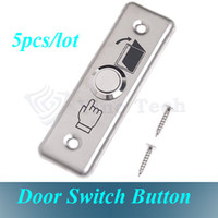 Wholesale Door Access Control System Stainless Steel NC COM Door Exit Push Release Button Switch