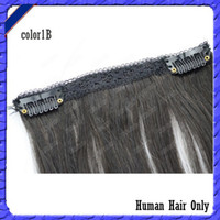 Wholesale Hot Top Lace Clips In Hair B Brazilian Human Remy Hair Weft Straight