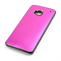 Plastic aluminum wire brush - Brushed Aluminum Wire Drawing Bling Chrome Hard PC Case Skin Back Cover Cases for HTC One M7