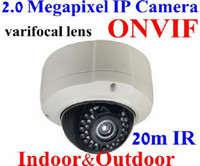 Wholesale Onvif Megapixel mm Varifocal Lens Indoor amp Outdoor Use IR IP Network Camera POE support