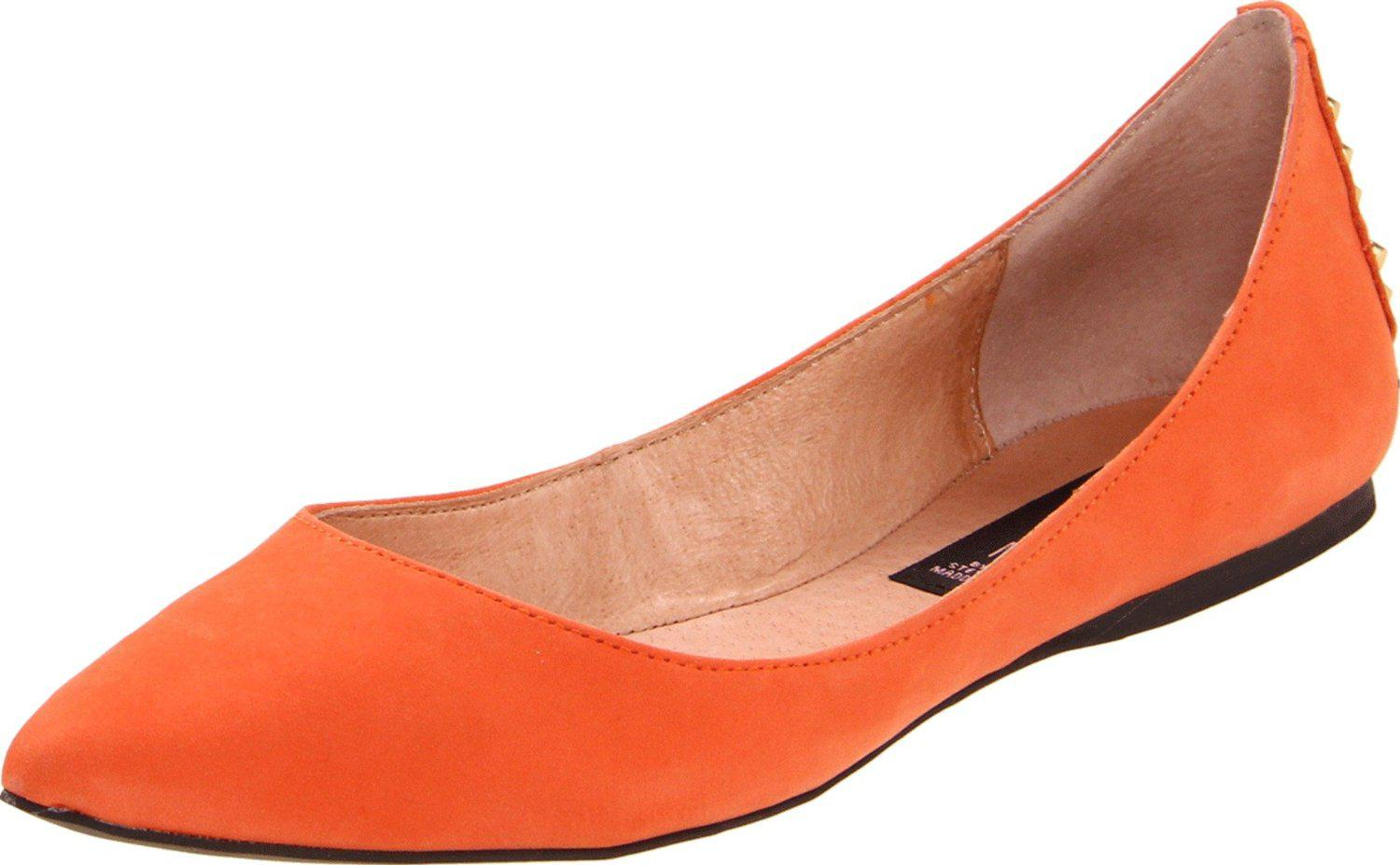 Color Matching Style Flat Shoes Womens Leather Pumps Cusp Toes Flat Heels Shoes US4.5-8 WS25P
