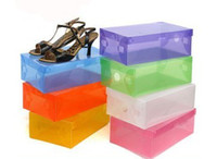 Wholesale HOT multicolour crystal transparent shoes box