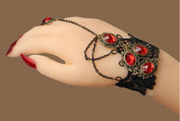 Wholesale Fashion jewelry vampire Gothic style lace bracelet ring gift ws with tracking number