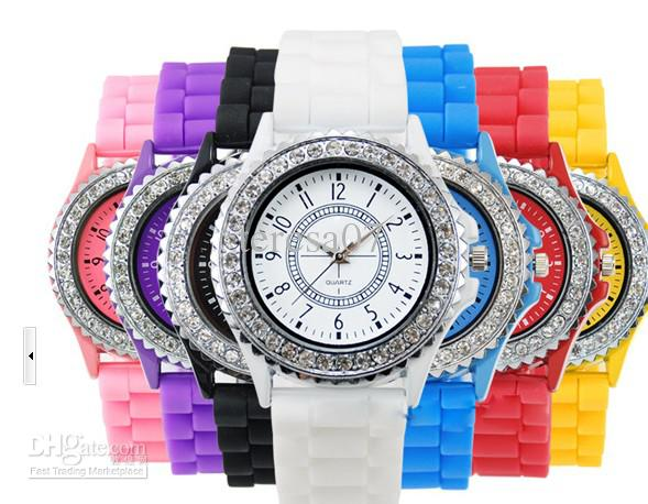 high quality women men geneva quartz watches silicone jelly watch see larger image