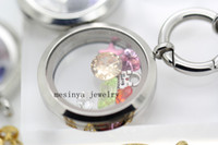 Wholesale magnetic mm plain memory glass locket no floating charm in stainless steel Xmas mother s day