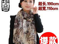 Wholesale 2013 new Korean lengthened and widened genuine printed silk long silk scarf