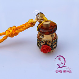 Wholesale Lampwork Glass Car Aroma Fresheners Lampwork murano essential oil bottle Pendant