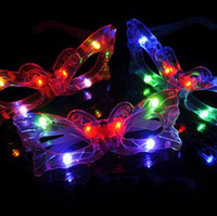 Variety colorful light glasses flashing party flash mask bar...