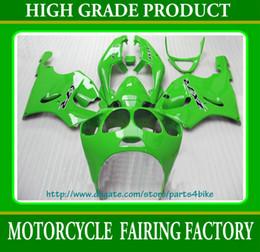 Custom race fairing kit for Kawasaki Ninja ZX7R 96 97 98 99 01 02 03 ZX 7R ZZR 750 all green RX1a