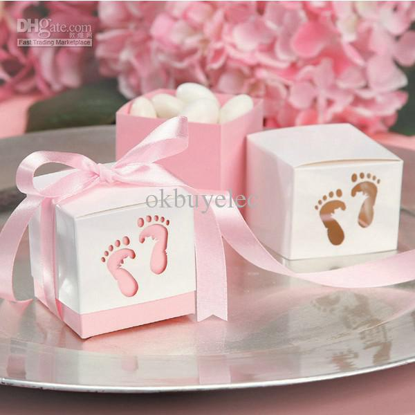 Cheap Favor Box - Discount Girl Baby Shower Favor Boxes Candy Box