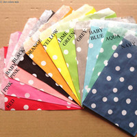 Wholesale 5 quot x7 quot cm x cm Wedding dot party favor Bags Candy Paper Goods Bag kraft bags