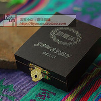 Wholesale Chinese style handmade small accessories jewelry wooden collection pendant box packaging box