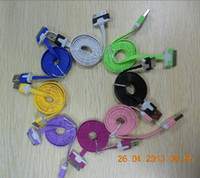 Wholesale 1Meter Noodle Flat USB Data Sync Charger Cable For hot sale cell phone