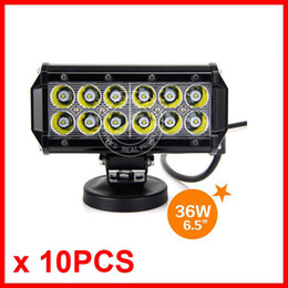 "10pcs 6.5"" 36W CREE 12LED*3W Work Light Bar Driving Offroad SUV ATV 4WD 4x4 Spot  Flood Beam 9-32V 3200lm IP67 Waterproof Truck Trailer Lamp"