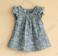 Wholesale Girls Cute Lace Sleeve Tank Tops Fashion Sleeveless T Shirt Kids Condole Belt Children Summer Vests
