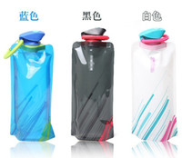 Wholesale 20PCS New Item Portable Mountaineering Cups Fold Travel Water Cup Water Bag Kettle Sports Bottle