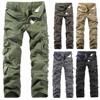 mens cargo pants - MENS CASUAL MILITARY ARMY CARGO CAMO COMBAT WORK PANTS TROUSERS SIZE