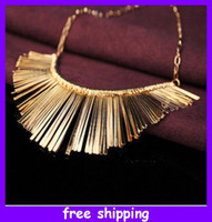Wholesale New Arrival Fashion LadyTassels Collar Necklace Personality Jewelry Choker Bib Gold Silver
