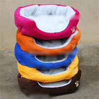 Wholesale color Fleece Warm Round Unique Soft Pet Dog Nest Puppy Cat Beds Cushion Dog Supplies