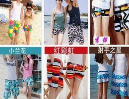 Wholesale Lovers Swimwear Couple Beach Pants swimming Men Women Pants Easy drying DHL Free Mix Designs