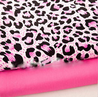 Wholesale Home Textile cotton fabric by the meter for DIY bed sheet sets Charming red pink leopard printed pattern