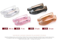 Wholesale new woman crystal fish head sandals flat with shoes Diamonds sandals jelly shoes lady