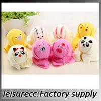 Wholesale Cartoon Towels Cotton Superfine Fiber cm Color Face Towel Couple Cute Wedding Favor Gift Animal Modles Kids Towels JJ0110