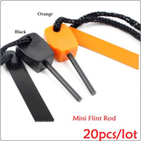 Wholesale B1092 Outdoor Sport Survival Hiking Mini Flint Rod Striker Fire Starter Stick Magnesium Firesteel